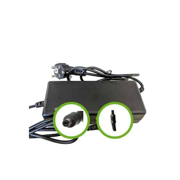 Chargeur Lithium Ion 36V2A pour batterie de vélo électrique - Embout Jack (DC2.1)