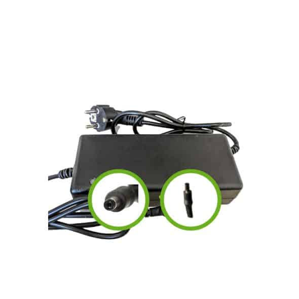 Chargeur Lithium Ion 48V2A pour batterie de vélo électrique - Embout Jack (DC2.1)