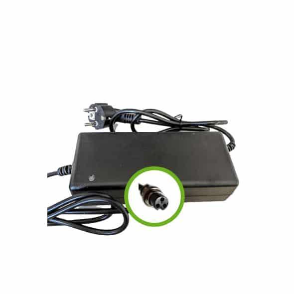Chargeur Lithium Ion 48V2A pour batterie de vélo électrique- Embout 18M3P