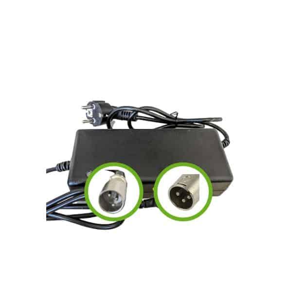 Chargeur Lithium Ion 36V2A pour batterie de vélo électrique- Embout XLR Mâle